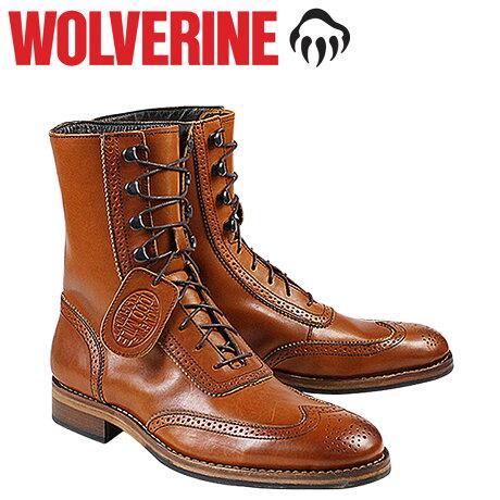 ウルヴァリン 1000マイル ブーツ WOLVERINE ブーツ WINCHESTER 1000 MILE BROGUE BOOT Dワイズ W06491 タン ワークブーツ メンズ