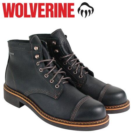 ウルヴァリン ブーツ WOLVERINE メンズ JENSON WATERPROOF BOOT Dワイズ W40418 ブラック ワークブーツ