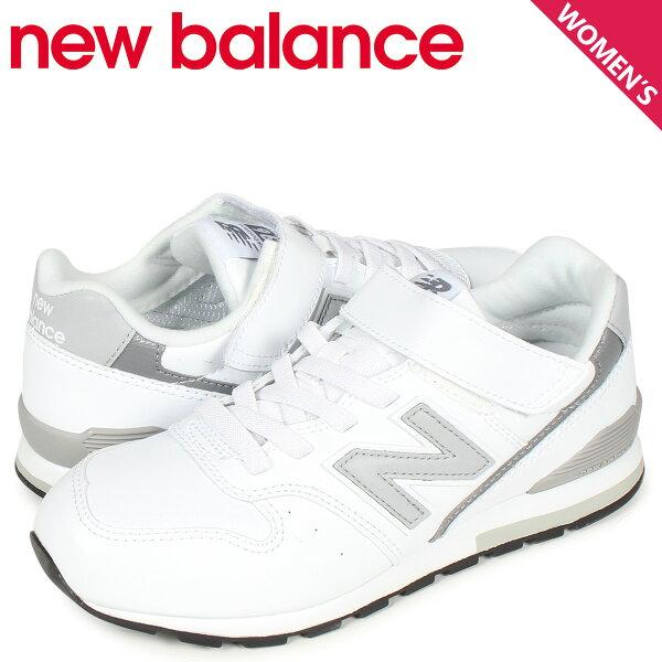 最大2000円OFFクーポン ニューバランスnewbalance996スニーカーレディースキッズMワイズホワイト白YV996L