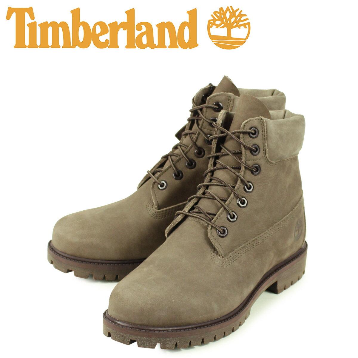 ティンバーランド Timberland ブーツ 6インチ ウォータープルーフ メンズ 6INCH WATERPROOF BOOTS オリーブ A24W3画像