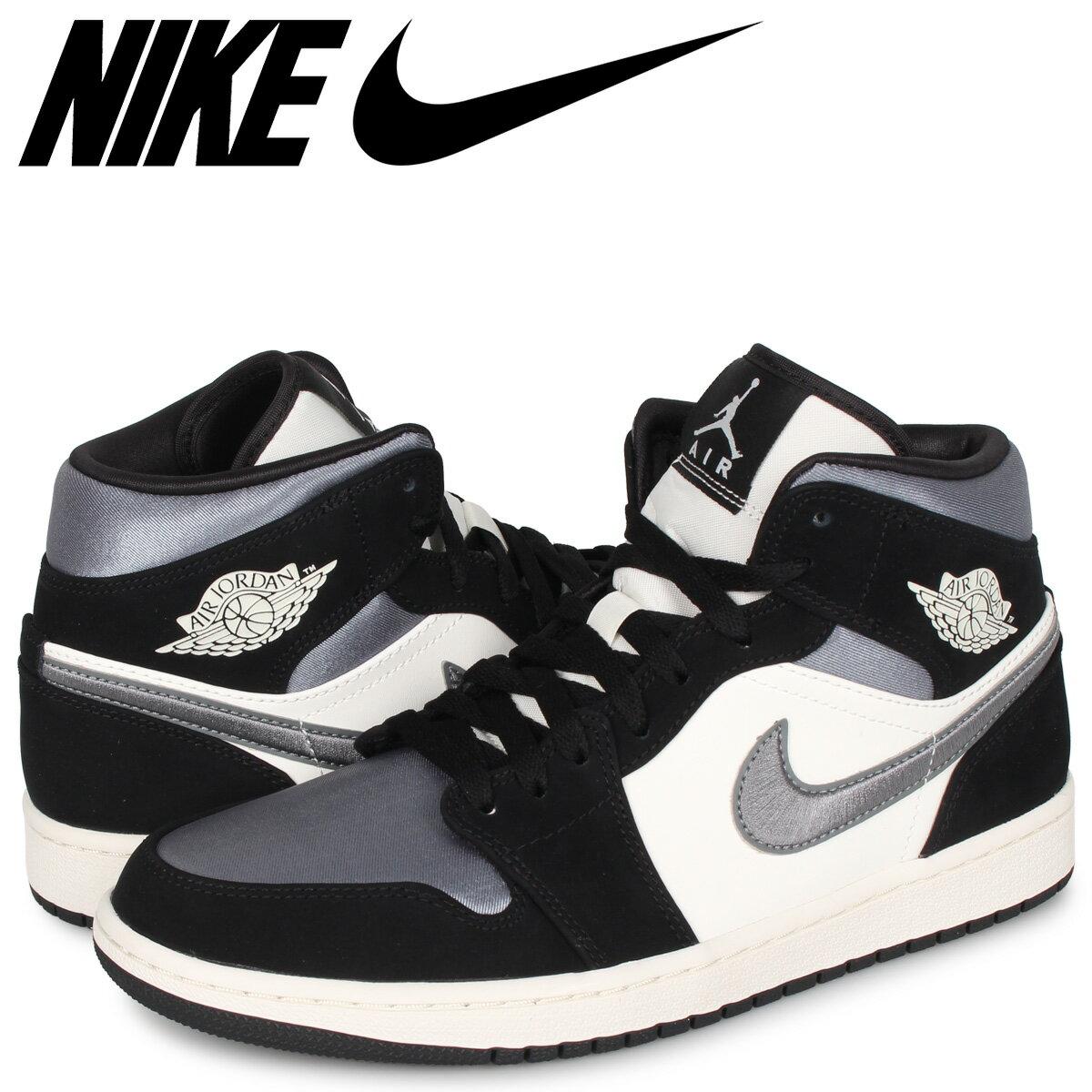 メンズ靴, スニーカー NIKE AIR JORDAN 1 MID SE BLACK SATIN 1 852542-011