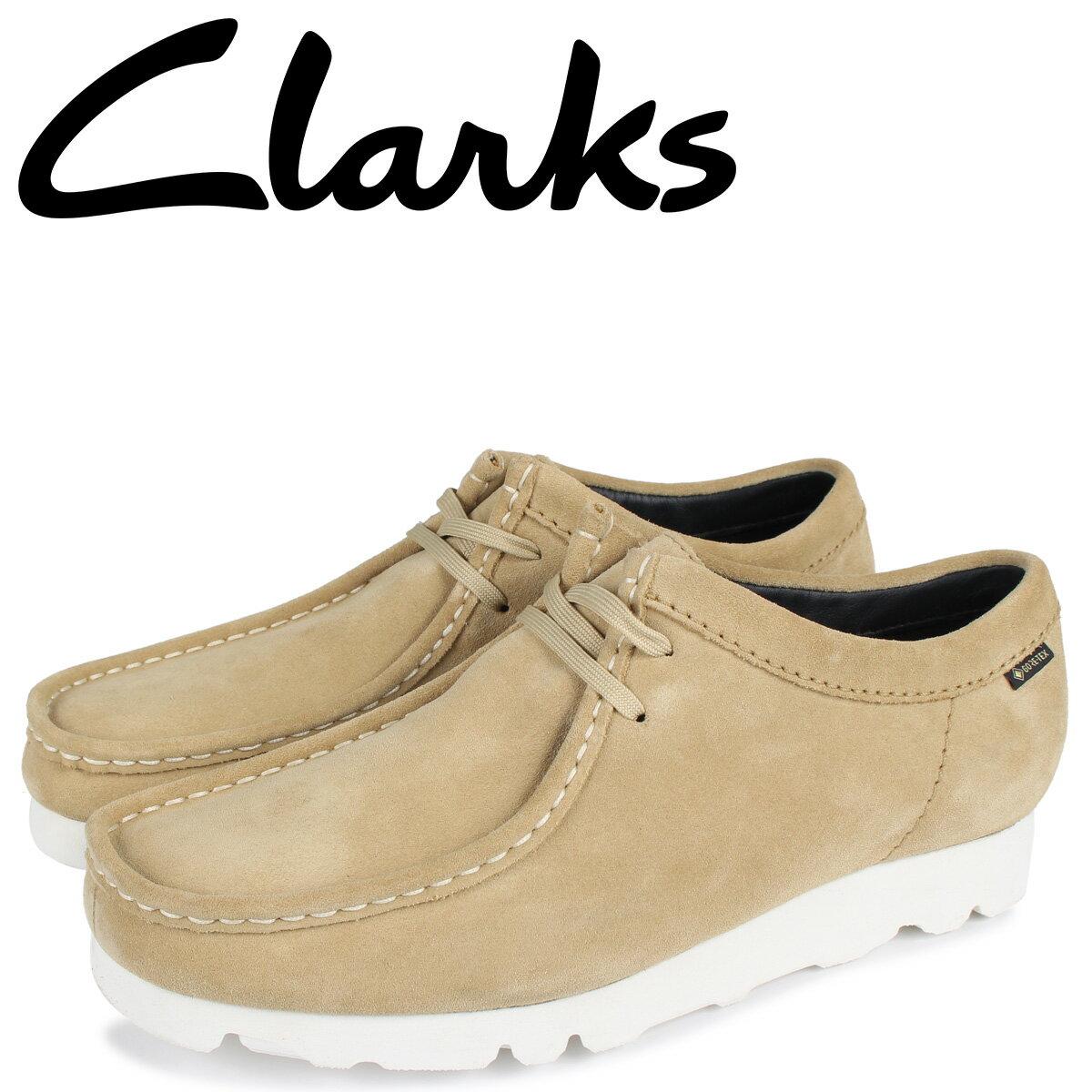 クラークス CLARKS ワラビーブーツ メンズ 防水 WALLABEE GTX ベージュ 26149450 [10月 新入荷]