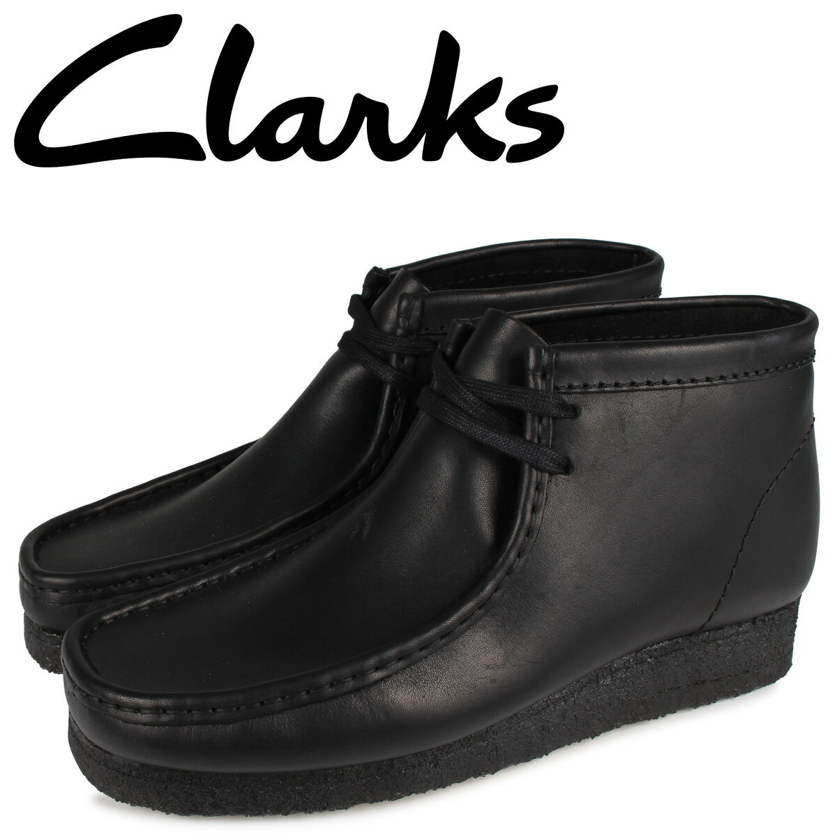 クラークス CLARKS ワラビーブーツ メンズ WALLABEE BOOT ブラック 黒 26155512 [10月 新入荷]