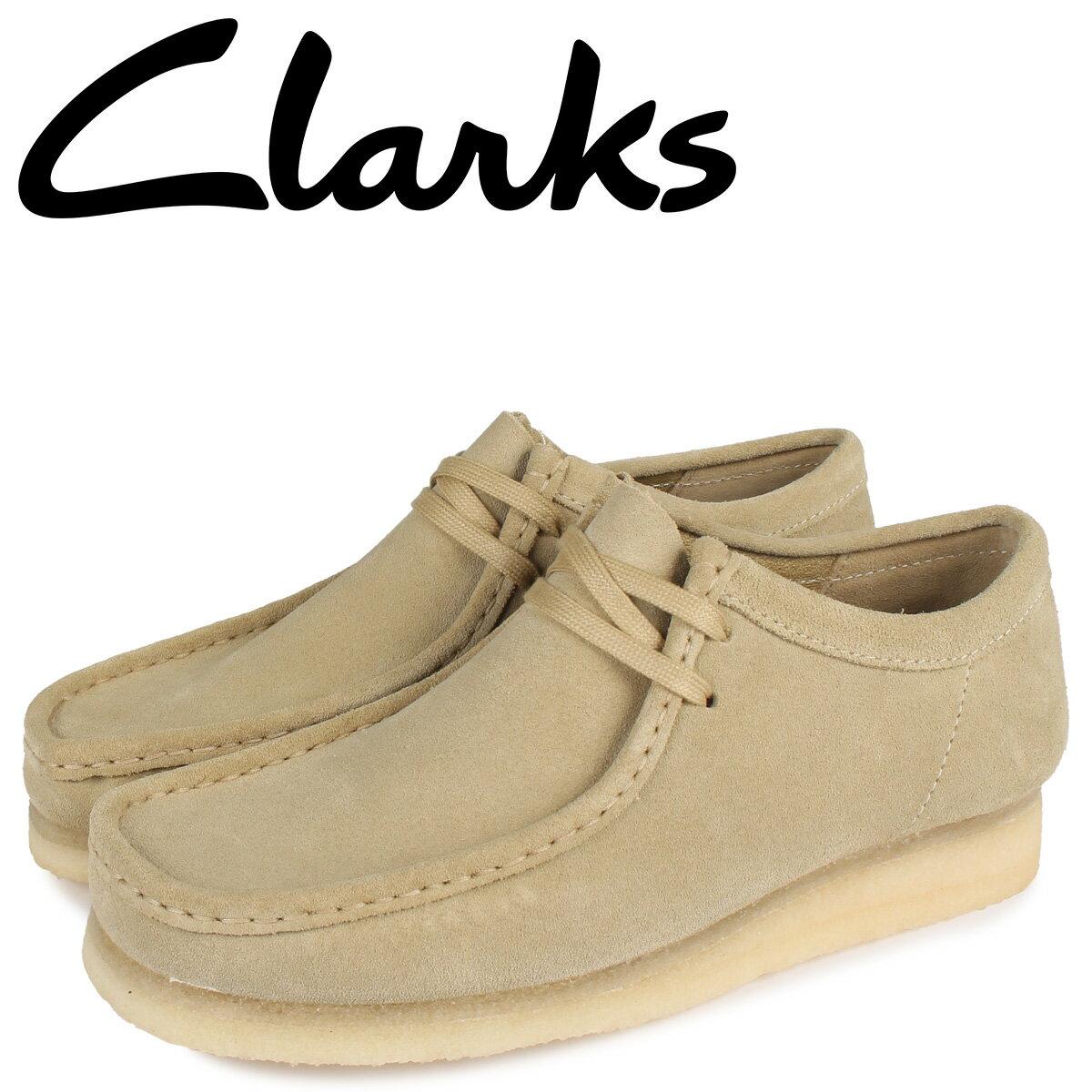 クラークス CLARKS ワラビーブーツ メンズ WALLABEE ベージュ 26155515 [10月 新入荷]