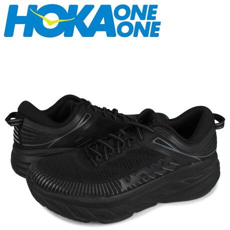HOKA ONE ONE ホカオネオネ ボンダイ 7 スニーカー メンズ 厚底 BONDI 7 ブラック 黒 1110518 [予約 1月下旬 新入荷予定]