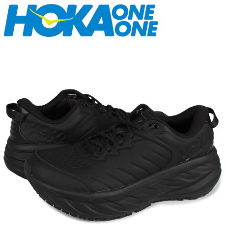 HOKA ONE ONE ホカオネオネ ボンダイ スニーカー メンズ 厚底 BONDI SR ブラック 黒 1110520 [予約 1月下旬 新入荷予定]