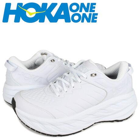 HOKA ONE ONE ホカオネオネ ボンダイ スニーカー メンズ 厚底 BONDI SR ホワイト 白 1110520 [予約 1月下旬 新入荷予定]