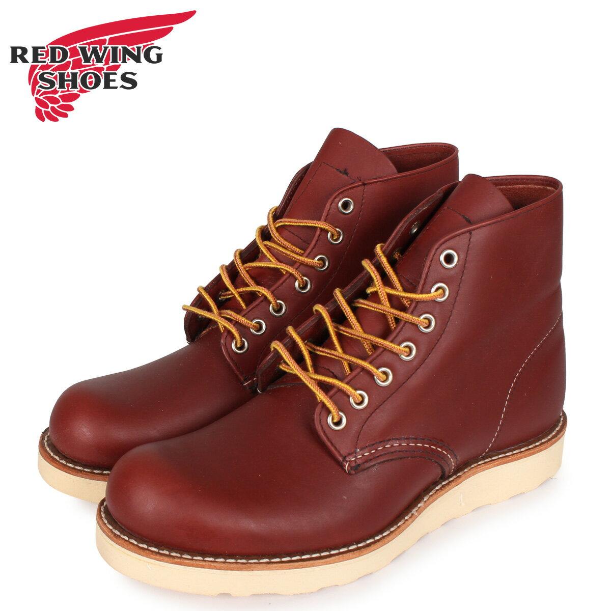 ブーツ, ワーク  RED WING 6INCH ROUND TOE 6 D 9105