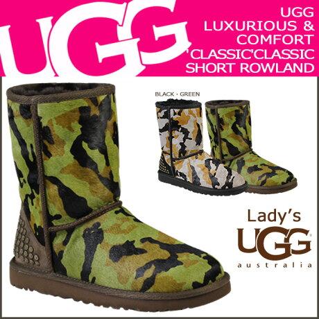 UGG アグ ムートンブーツ クラシック ショート WOMENS CLASSIC SHORT ROWLAND 1003389 シープスキン レディース