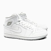 NIKEAIRJORDAN1MID�ʥ����������硼����1�ߥå�[554724-112WHITE/WHITE/WOLFGREY]MEN'S��󥺥��ˡ������ۥ磻�ȥ��졼�򳥥������硼���󥪡���ۥ磻��