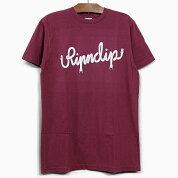 RIPNDIPリップンディップTシャツNERMSCRIPTS/STEE[BURGUNDY]メンズレディースRIPNDIPバーガンディ半袖ティーシャツコットンプリントスケートボードストリート猫RIPNDIP