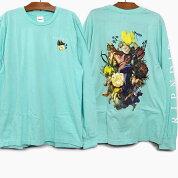 RIPNDIPリップンディップTシャツ長袖HEAVINLYBODIESLONGSLEEVETEE[BABYBLUE]メンズレディースRIPNDIPロンTプリントTシャツロングTシャツ青水色スケートボードストリートブランド猫