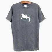 RIPNDIPリップンディップTシャツ半袖NOODLESSHORTSLEEVETEE[GREYMINERALWASH]メンズレディースRIPNDIPロンTプリントTシャツグレースケートボードストリート猫RIPNDIP