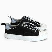 SLACKCLUDE[PREMIUMSUEDEBLACK/WHITESL1401001]スラックローカットスエードスニーカーブラック黒靴メンズレディース革リフレクター