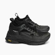【並行輸入品】ブランドブラックメンズレディーススニーカーサガBRANDBLACKSAGA[BLACK426BB-OG-BLK]ブランドブラック黒オールブラックレザーニット靴ダッドスニーカーSNEAKERMEN'SLADIESWOMEN'Sプレゼント
