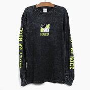 RIPNDIPリップンディップTシャツ長袖BESTIESLONGSLEEVETEE[BLACKMINERALWASH]メンズレディースRIPNDIPロンTプリントTシャツロングTシャツ黒スケートボードストリート猫RIPNDIP