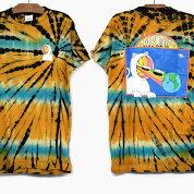 RIPNDIPリップンディップTシャツ半袖OPENMINDEDSHORTSLEEVETEE[SUNBURSTTIEDYE]メンズレディースRIPNDIPプリントTシャツタイダイオレンジブルースケートボードストリートブランド猫