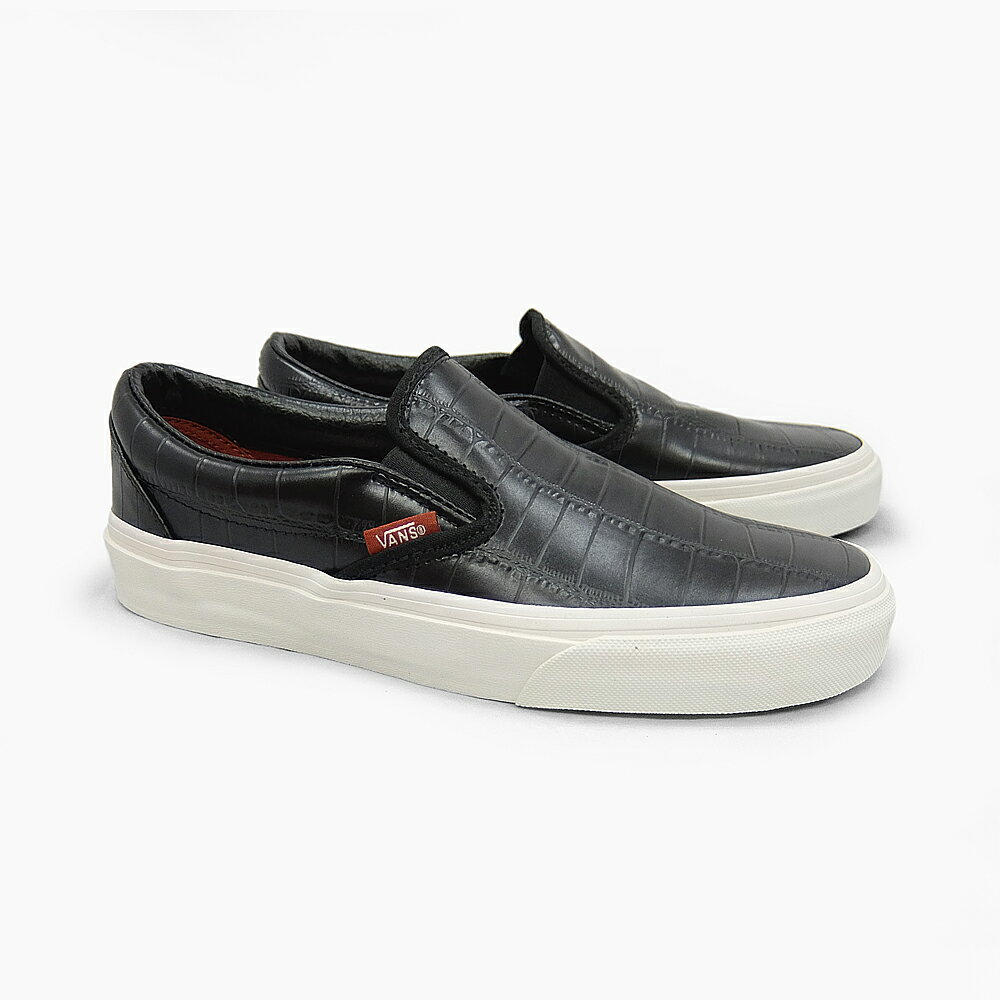 vans classic slip-on leather sneakers
