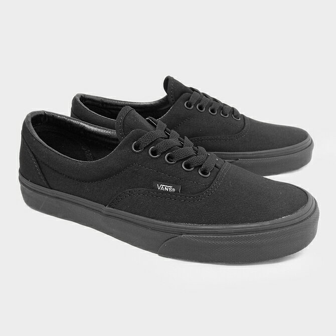 vans era classic all black skate shoes mens