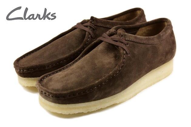 ClarksクラークスWALLABEEワラビーダークブラウンスエード336E-DBRS