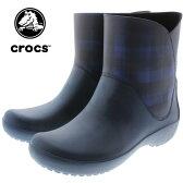 crocs クロックス rainfloe graphic bootie レインフロー グラフィック ブーティ ネイビー 203866-410