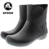 crocs クロックス rainfloe bootie レインフロー ブーティ ブラック 203417-001
