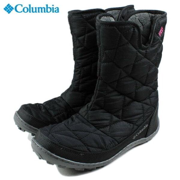 【子供】Columbiaコロンビアユースミンクススリップオムニヒートブラック/グラマーBY1329-010