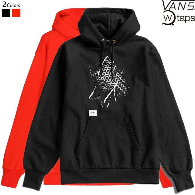 トップス, パーカー WTAPS x VANS VAULT PULLOVER HOODY SWEAT VN0A4TR BLACK MANDARINE RED