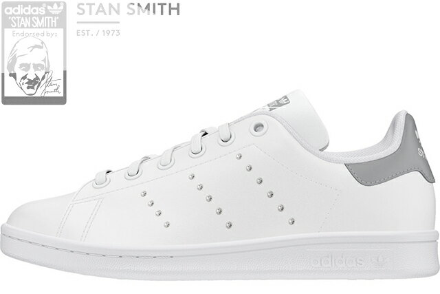 レディース靴, スニーカー adidas Originals STAN SMITH J FW0745 FOOTWEAR WHITESILVER METALLICCORE BLACK