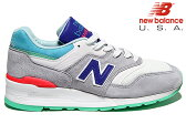 NEW BALANCE M997CDG 「COUMARIN PACK」 Made in U.S.A GREY/DEEP OZONE BLUE/VIVID BLUE Dワイズニューバランス グレー ブルー スニーカー メンズ メイドインUSA