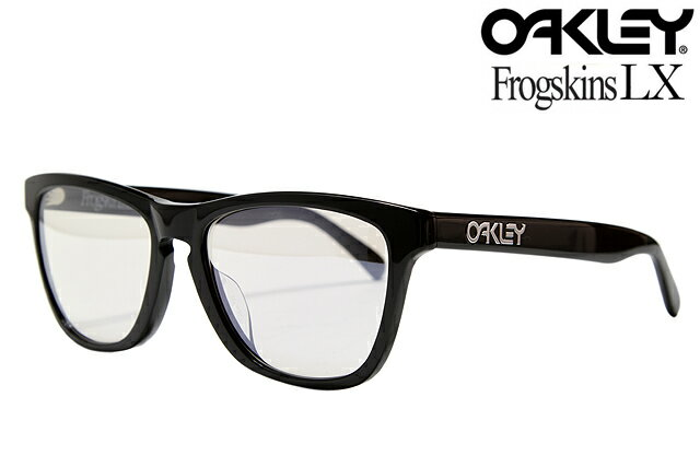 oakley frogskins lx sunglasses asian fit  oakley frogskins lx sunglasses asian fit 002039 06 polished black titanium clear oakley frog skin her ex asian fit sunglasses black clear