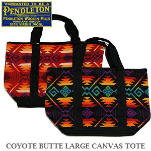【即日発送!】PENDLETON COYOTE BUTTE LARGE CANVAS TOTE GB305 BLACK REDペンドルトン コヨー...