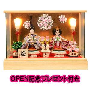 雛人形 ひな人形 ケース飾り コンパクト パノラマ 47cm 芥子親王 ひのき ケース飾り