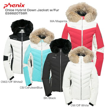 PHENIX〔フェニックス スキーウェア ジャケット レディース〕<2019>Chloe Hybrid Down Jacket w/Fur ES882OT58R【送料無料】【MUJI】