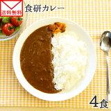カレー レトルト 食研カレー セット 4食 送料無料 メール便 ポッキリ ポイント消化