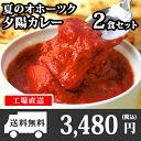 北海道 クリシュナ 夏のオホーツク夕陽カレー2食セット 手焼きナン付(...