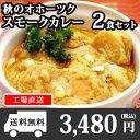 北海道 クリシュナ 秋のオホーツクスモークカレー2食セット 手焼きナン...
