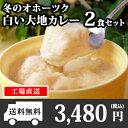 北海道 クリシュナ 冬のオホーツク白い大地カレー2食セット 手焼きナン...