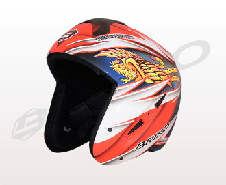 ★ normally in flight (courier) ★ graphic design painting theme アズメリープレゼンツ the design of fire bird BRIKO 013140P HINOTORI brico mens and ladies helmet original paint (fire bird) 02P28oct13's