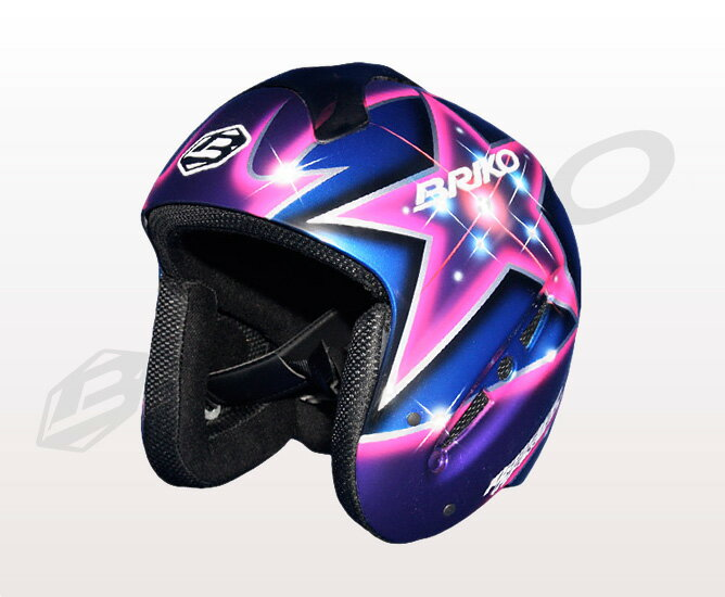 ★By a normal service (home delivery) the ★ graphic design paint アズメリープレゼンツ, the main theme of the design star BRIKO 013140P HOSHI yellowtail co; men's lady's helmet original paint (star) 02P28oct13