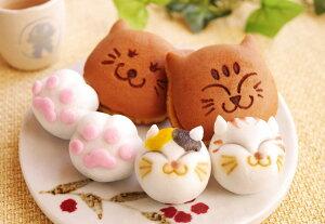 (引菓子・ギフト)猫の和菓子大満足セット(どらやき・饅頭)