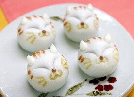 【ウエディングギフト】幸せを招く猫(ネコまんじゅう4ヶ入)
