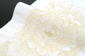 Han-half-collar ceremony furisode trusting graduation hakama hakama wedding houmongi for kimono embroidered Peony Platinum silk kimono ERI
