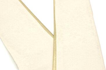 重ね衿 薄黄色 クリーム 金色 ゴールド 桜 花 リバーシブル 両面 2way 正絹 重ね襟 伊達襟 伊達衿 着物 振袖向け 成人式向け 和装小物 【あす楽対応】【メール便対応】