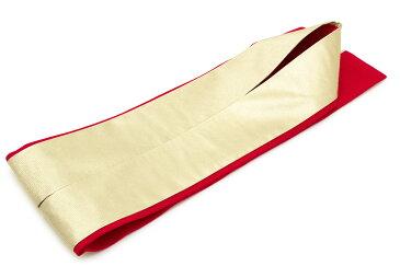重ね衿 赤 レッド 金色 ゴールド シンプル リバーシブル 両面 2way 正絹 重ね襟 伊達襟 伊達衿 着物 振袖向け 成人式向け 和装小物 日本製 【あす楽対応】【メール便対応】