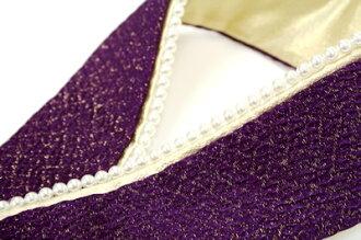 ITA collar ITA collar layered collar long-sleeved kimono hakama pearl purple ITA collar