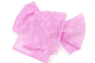 Heko kids pink yukata belt to this band girl child cherry