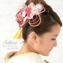 髪飾り2個セット 成人式 振袖 浴衣 花 フラワー ピンク 桜 レース...