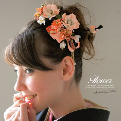 和柄のリボンとパールがお洒落な髪飾り♪ 日本製 , 髪飾り , 和柄 , 縮緬 , 髪留め , ヘアアク...