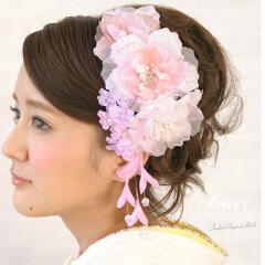 【髪飾り ☆ 花びらのラメがキラキラときれい】 髪かざり , 髪留め , ヘアアクセサリー , 振袖 ...
